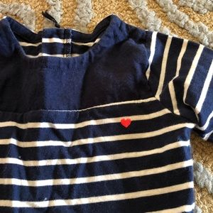 Carter's Dresses - Carter's striped dress blue and white 3T